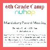 6th Grade Camp Parent Meeting