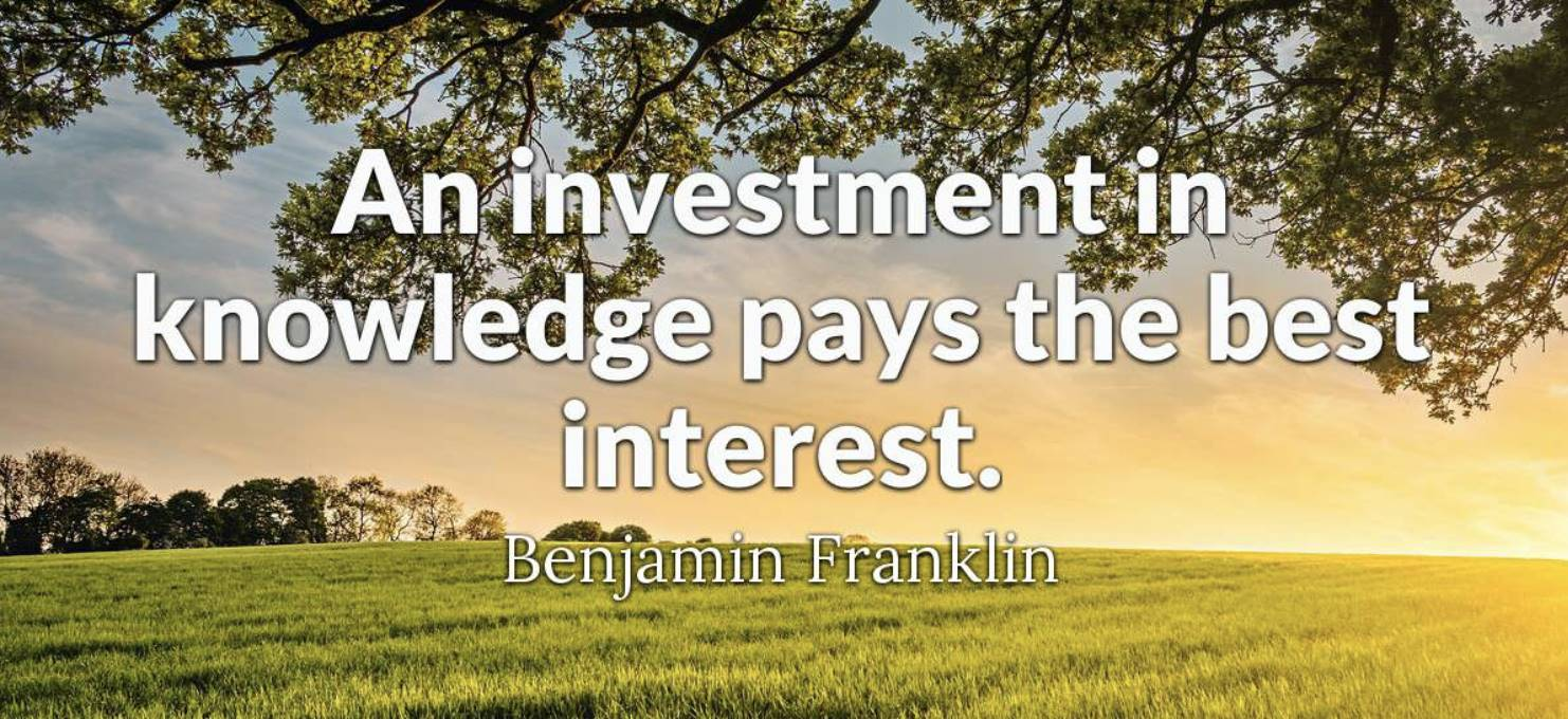 An investment is knowledge