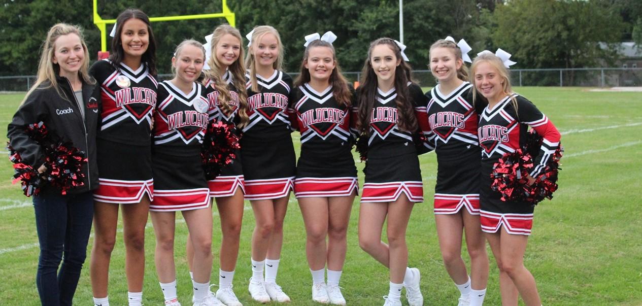 High School Football Cheerleaders