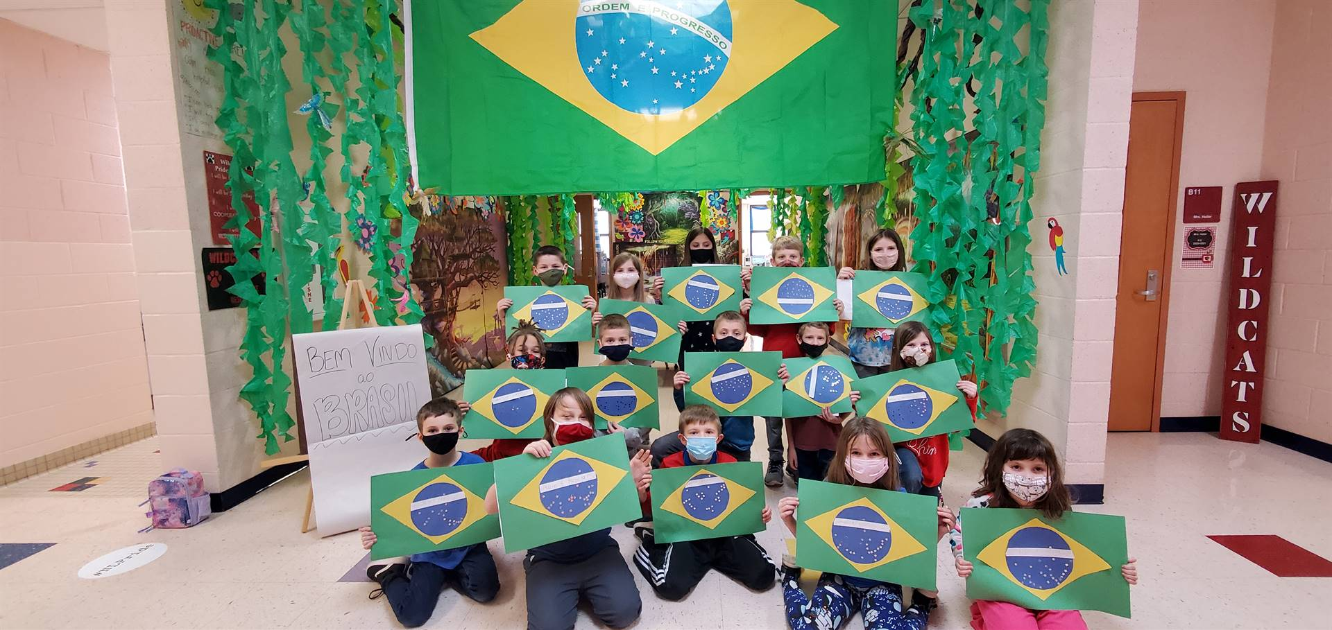 Brazil Day Flags